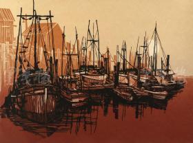 当代实力派画家 曾文波 2011年亲笔签名 丝网版画作品《朝霞》一幅(版号随机,作品编号为:20-80/100,作品直接得自于艺术家本人!) HXTX116662