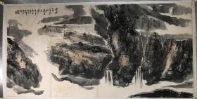 (3周年店庆优惠,买3幅加送1幅。)北京 程振国四尺山水,省诗词学会会长收藏作品流出,画面有收藏章,介意慎购。