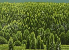 著名画家、黑龙江省美协会员 孟庆云 2011年亲笔签名 木版油印版画作品《秋之韵》一幅(版号随机,作品编号为:51-80/100,作品直接得自于艺术家本人!) HXTX116665