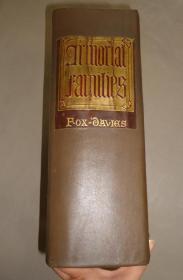 1910年 Armorial Families - Directory of Gentleman of Coat-Armour 《贵胄纹章大全》皮脊布面烫金 超级对开本 海量木刻插图 51张珂罗版彩色版画插图 商标设计师的圣经 重达10公斤