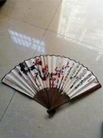 庐山手绘梅花图折扇