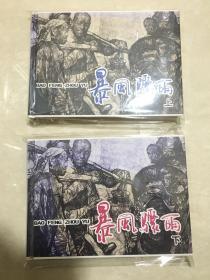上海人美32开精装名家经典连环画【暴风骤雨上下】