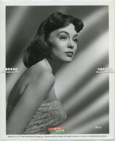 1953年美国好莱坞女影星女明星芭芭拉·拉什肖像原版银盐照片,25.4X20.8厘米