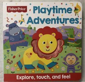 新品 playtime adventures两款精装纸板触摸书