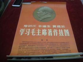早期年画;1972年4开--廖初江,丰富生,黄祖示学*毛主席著作挂图--31张全