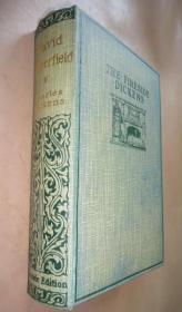 1890年 CHARLES DICKENS: David Copperfield 狄更斯《大卫·科波菲尔》全插图本古董书 著名的炉边版 布面精装 品相上佳