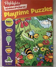 新品playtime puzzles 故事书带贴纸