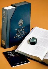 英文原版 The Compact Oxford English Dictionary New Edition 牛津英语大词典 全套20册微缩印刷为单册 内附超级放大镜方便阅读