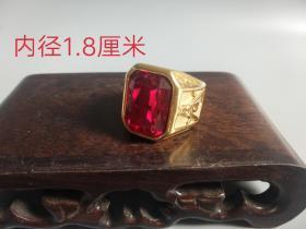 老凤祥18K金红宝石戒指
