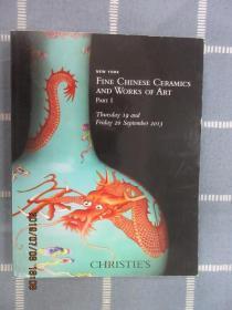 CHRISTIE'S  NEW  YORK  FINE  CHINESE CERAMICS  OF  ART  PART  I  19-20  SEPTEMBER  2013