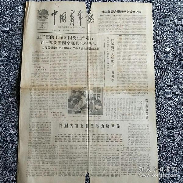 《中国青年报》(1978年12月30日)