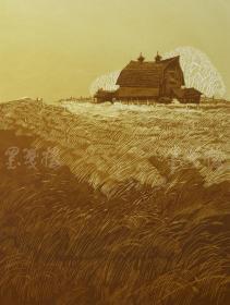 当代实力派画家 曾文波 2011年亲笔签名 丝网版画作品《金风》一幅(版号随机,作品编号为:20-80/100,作品直接得自于艺术家本人!) HXTX116661