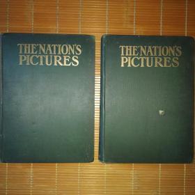 低价出售上世纪初大8开《国家馆藏绘画作品》两巨厚册全,96幅全,振作精良,每一幅画页全彩,贴嵌于特制纸板上,且伴有说明页!