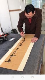 中国书法家协会会员欧阳新召老师四条屏书法作品尺寸140厘米*34厘米*4幅
