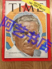"""【现货】时代周刊杂志 Time Magazine, 1955年,,封面 """"(南斯拉夫总理)铁托。珍贵史料!"""