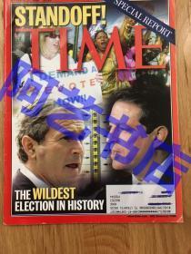 """【现货】时代周刊杂志 Time Magazine, 2000年,封面 """"历史上美国总统选举过程中发生的荒唐事"""",珍贵史料!"""