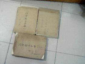汉字形义手册(原稿非定稿)(1-3册)周瑞宣(已出版)1000页左右