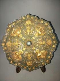 战国鎏金铜镜-
