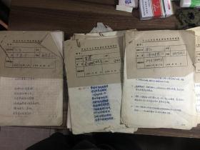 80年代萧山县电影公司宣传稿件一堆〔手写稿〕