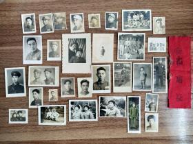 50年代志愿军和解放军照片31张加出席证一个