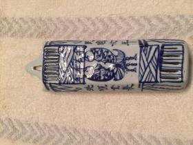 清末青花瓷制筷子笼
