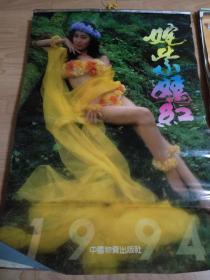 1994年挂历收藏(美女挂历):姹紫嫣红 老挂历收藏