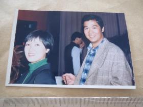 张国立,邓婕老照片,背面签名