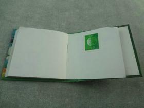 老集邮册薄带邮票的老邮戳本,盖有很多早期邮戳,品相完美