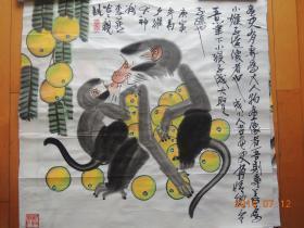 李燕作品:猴戏图(包真保值,流传有序)