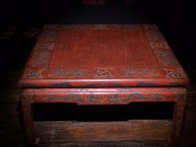 大尺寸木胎漆器围棋桌【配套围棋罐】高30cm  宽60×60cm