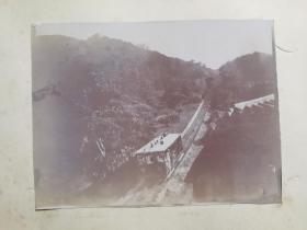 民国香港山顶缆车及军营老照片共三张