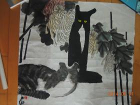 贾平西作品:猫(包真保值,流传有序)