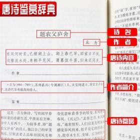 唐诗鉴赏辞典 宋词鉴赏辞典