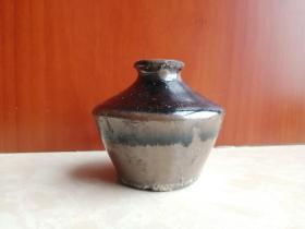 清代晋省磁州系---《草帽小黑釉罐》--------虒人荣誉珍藏