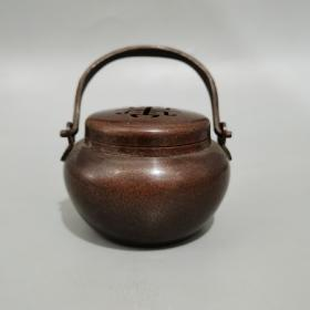 紫铜寿子熏炉