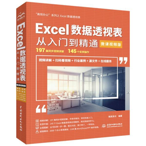 Excel数据透视表从入门到精通(微课视频版)