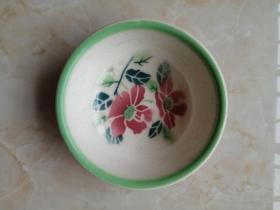 山西襄垣地方瓷器系列-------文革系列-------《上丰花卉和面盆》---------虒人荣誉珍藏