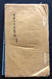 民国版 云南 省会水利计划稿 56页 附大图3张 手稿