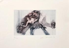 卡雷尔•德梅尔(Karl Demel)藏书票版画原作  捷克 93X150mm