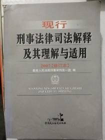 现行刑事法律司法解释及其理解与适用:2007修订本