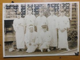二战 民国 老照片 金沢陆军病院 金泽陆军医院出羽町十一病栋三番室 伤员合影留念