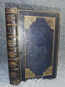 1809年 THE VICAR OF WAKEFIELD  全皮装帧 双面烫金  压花烫金书脊  三面刷金  含一副绿色藏书票  17X10.7CM