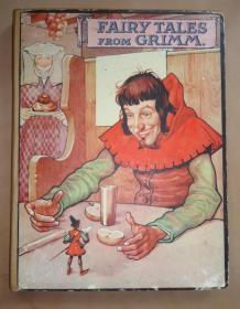 1924年 FAIRY TALES from GRIMM 《格林童话》著名的贝茨绘本 超大开本 多张珂罗版彩图