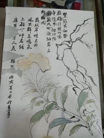 民国画  46 x 33.5