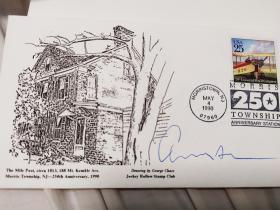 美国剧作家爱德华·阿尔比(1928—2016)签名信封