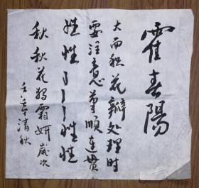 手书真迹书法:霍春阳练字稿2