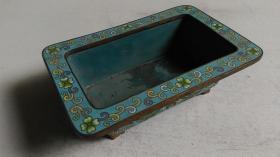 """上世纪六七十年代出品""""铜胎景泰蓝""""花盆(或其它用途制品需自鉴)"""