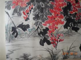 江寒汀作品:池塘清趣(包真保值,流传有序)