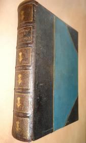 1882 年Walter Scott – St. Ronans Well  沃尔特•司各特《圣罗南之泉》珍贵全版画插图本 名人铜版画藏书票 3/4摩洛哥羊皮豪华大开本精装 大量铜版画及木刻插图 品佳