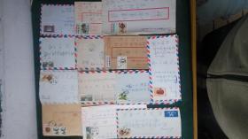 台滂寄大陆杭州实寄封12枚